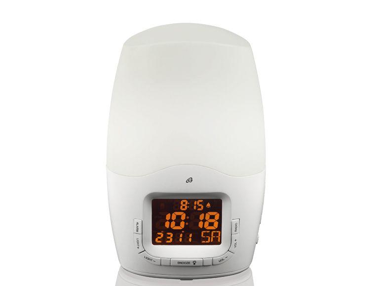 led farbwechsel lichtwecker radio wecker wake up light wellness wecker ebay. Black Bedroom Furniture Sets. Home Design Ideas