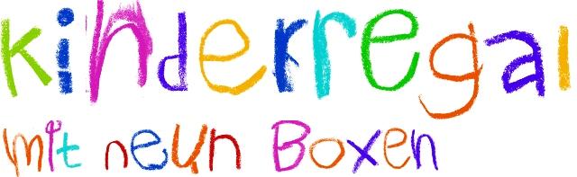 kinderregal mit 9 bunten boxen spielzeugkiste spielzeugbox aufbewahrungsbox ebay. Black Bedroom Furniture Sets. Home Design Ideas