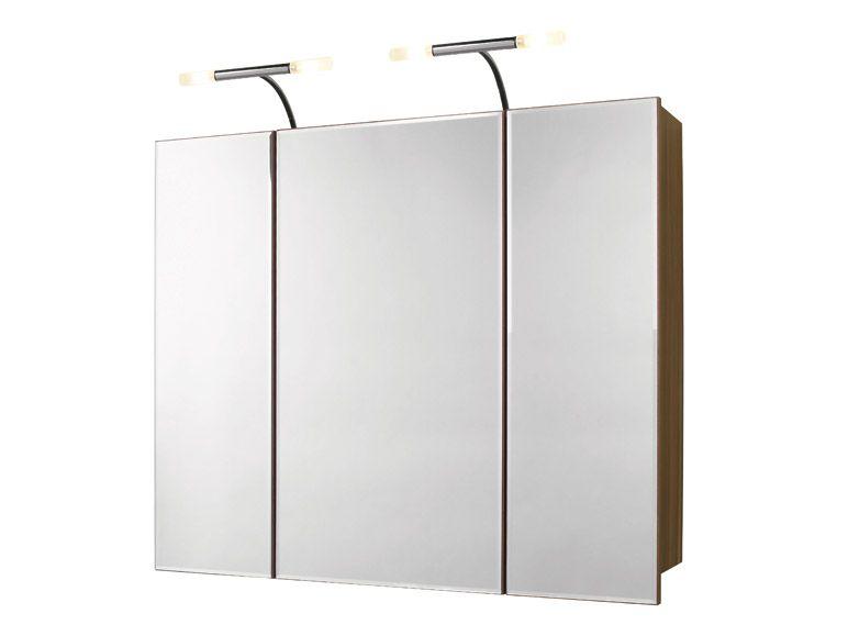 spiegelschrank badm bel badezimmer spiegel beleuchtung kirschbaum steckdose ebay. Black Bedroom Furniture Sets. Home Design Ideas
