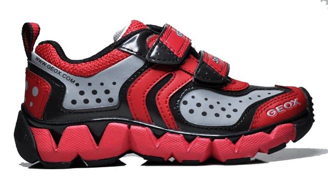 geox sport junior rumble kinder sneaker schuhe kinderschuhe rot schwarz grau ebay. Black Bedroom Furniture Sets. Home Design Ideas