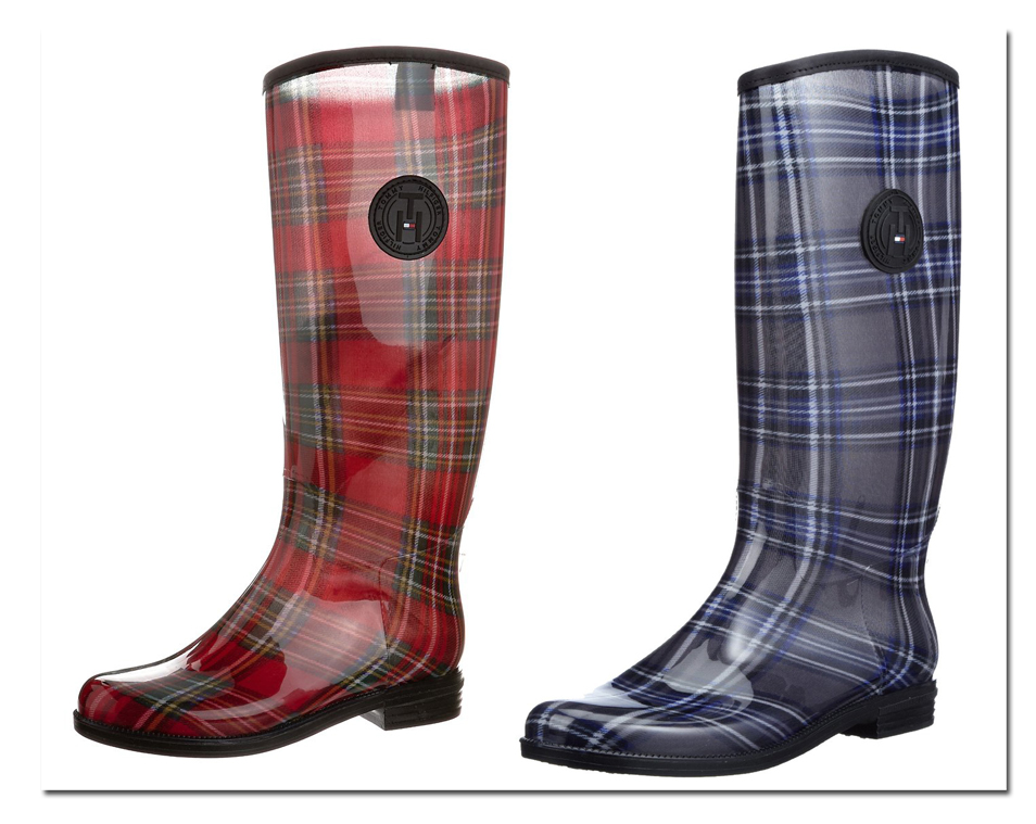 tommy hilfiger womens rainboots boots oxbridge red or blue. Black Bedroom Furniture Sets. Home Design Ideas